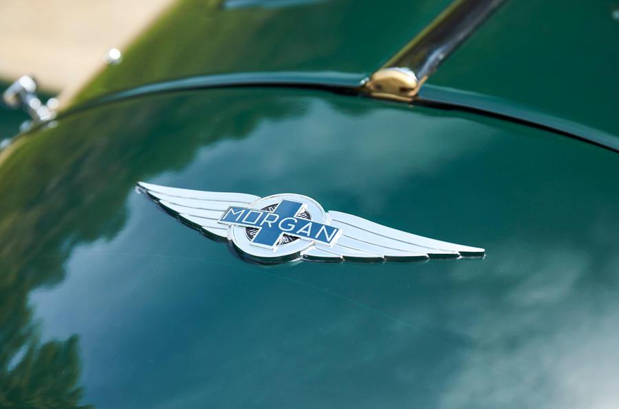 Morgan Plus Four 2020 UK first drive review - bonnet badge