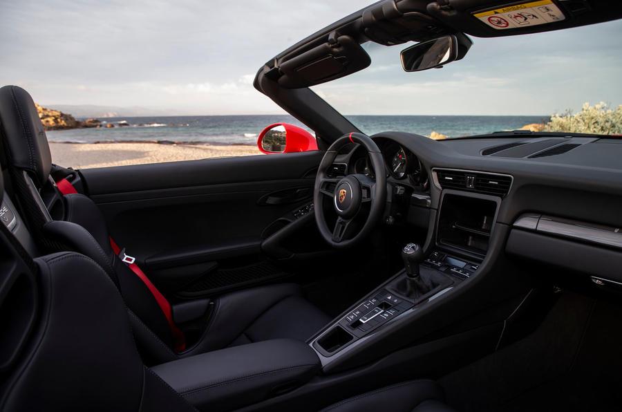 Porsche 911 Speedster 2019 first drive review - cabin