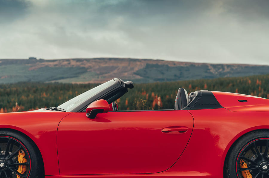 Porsche 911 Speedster 2019 UK first drive review - roof off