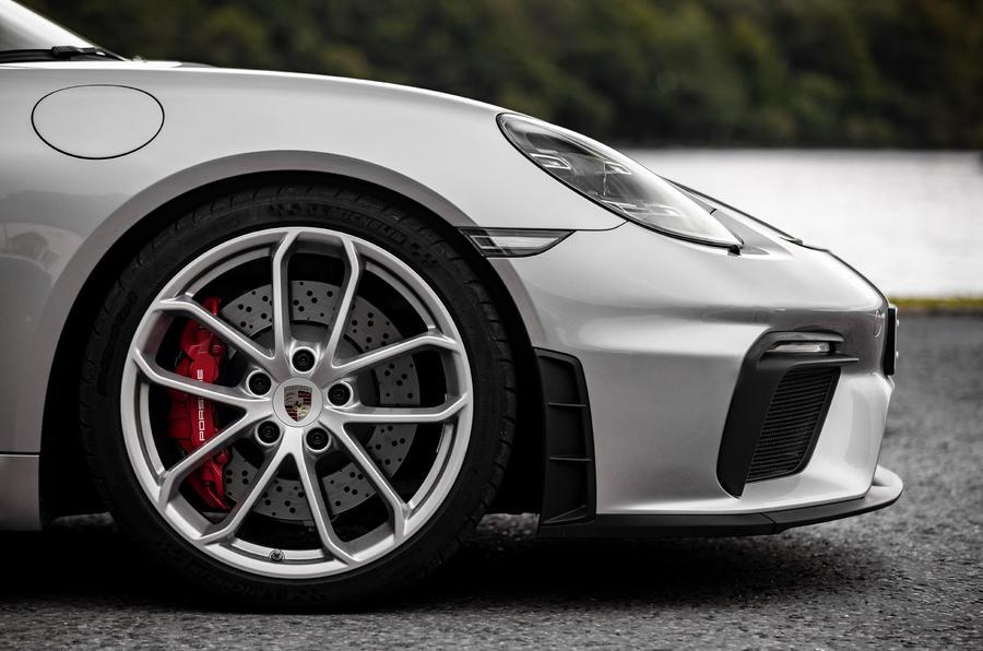 Porsche 718 Boxster Spyder 2019 first drive review - alloy wheels