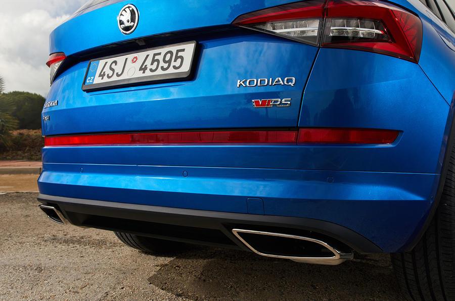 Skoda Kodiaq vRS 2018 first drive review - exhausts