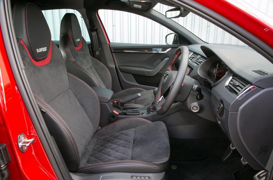 Skoda Octavia vRS Challenge 2019 UK first drive review - cabin