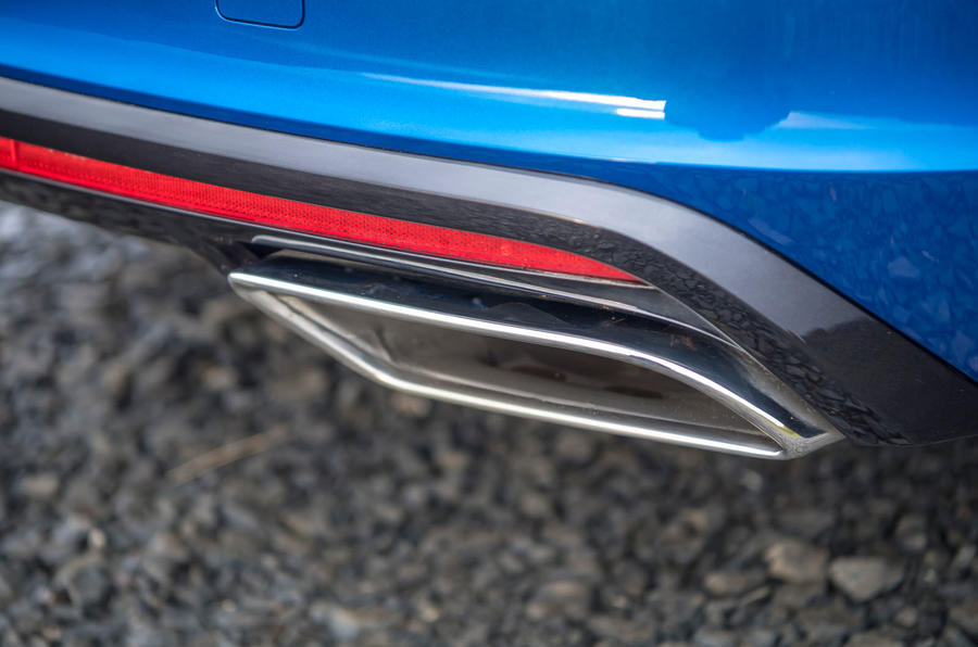Skoda Octavia vRS TDI 2021 UK first drive review - exhaust