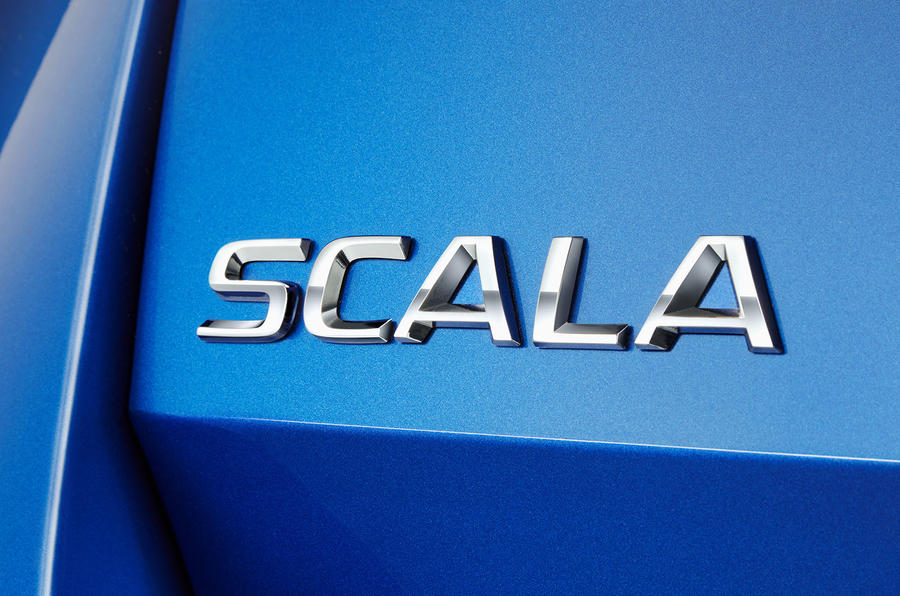 Skoda Scala 2019 first drive review - rear badge
