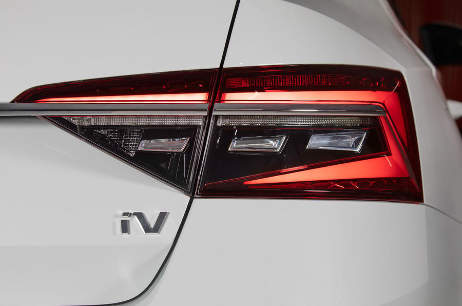 Skoda Superb iV 2020 first drive review - rear lights