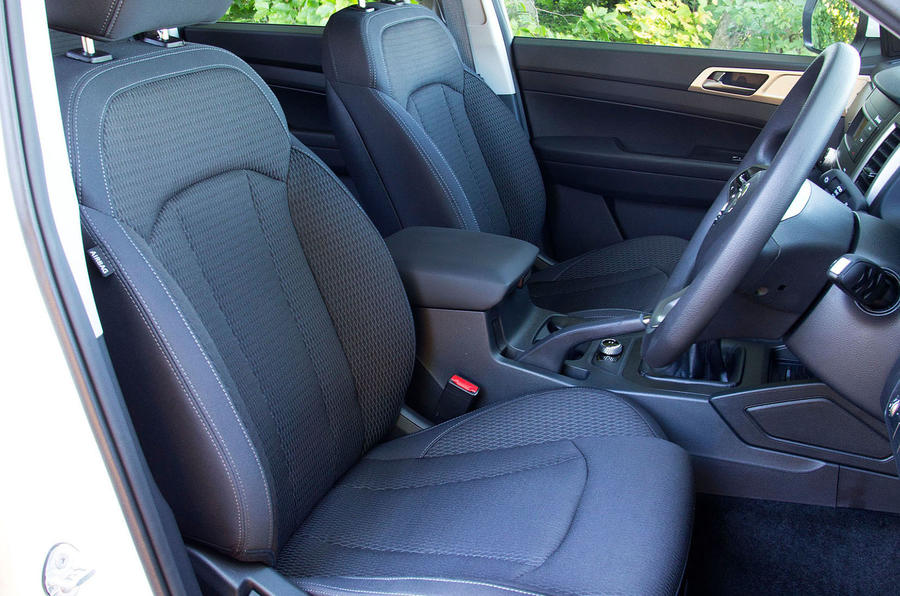 Ssangyong Musso EX 2019 UK first drive review - front seats