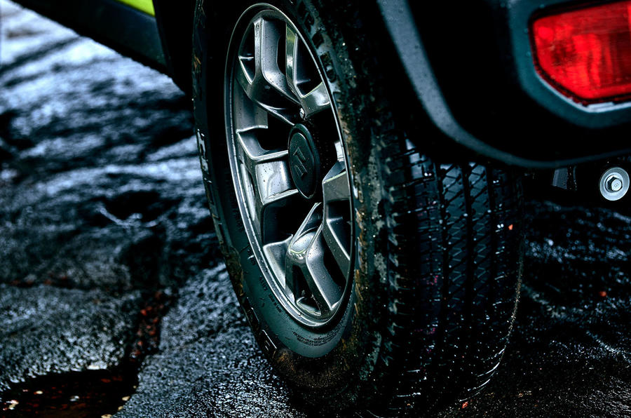 Suzuki Jimny 2018 first drive review alloy wheels