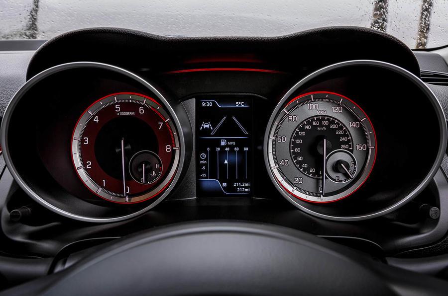 Suzuki Swift Sport 2018 review instrument cluster