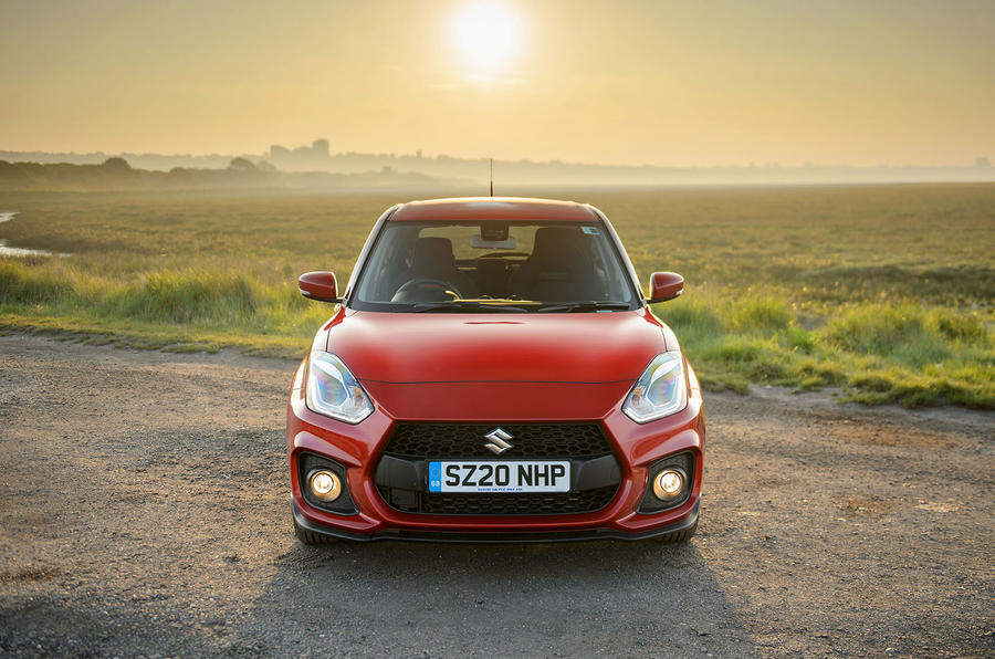 Suzuki Swift Sport hybrid 2020 UK first drive review - static nose