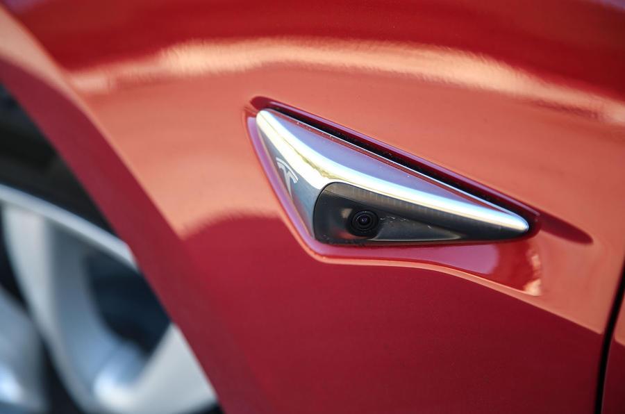 Tesla Model 3 2018 review wing cameras