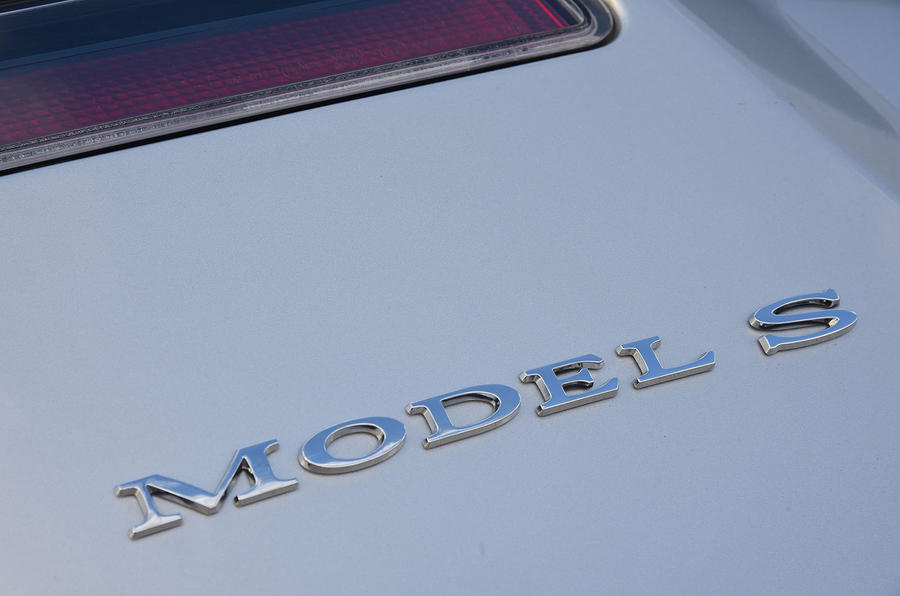 Tesla Model S 75D 2018 first drive review rear badge