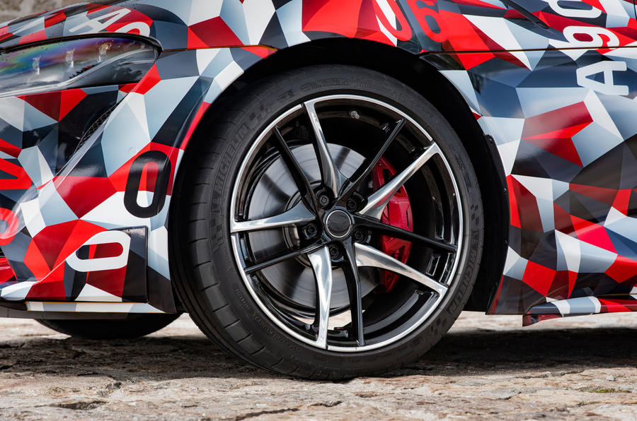 Toyota Supra 2019 prototype first drive review alloy wheels