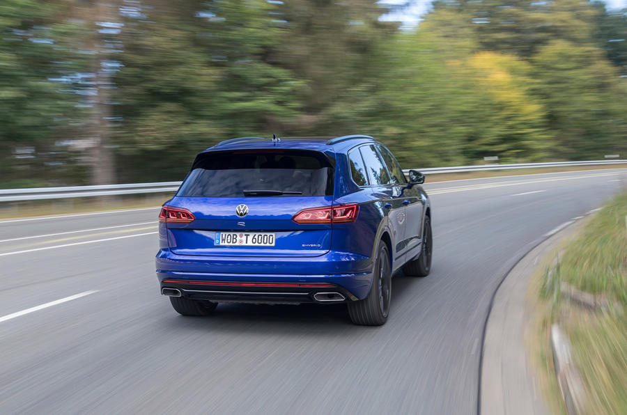 Volkswagen Touareg R 2020 first drive review - cornering rear