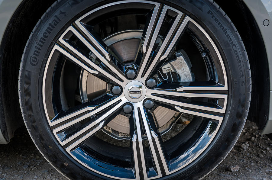 Volvo V60 D4 Inscription 2018 UK first drive review alloy wheels
