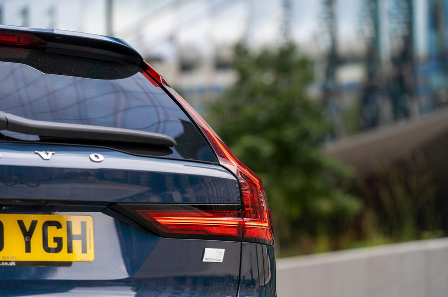 Volvo V90 Recharge T6 2020 UK first drive review - rear lights
