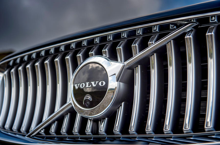 Volvo XC90 B5 petrol 2020 UK first drive review - front grille