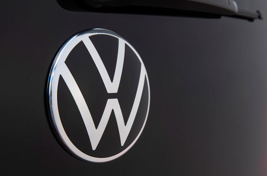 Volkswagen e-Up 2020 first drive review - rear logo