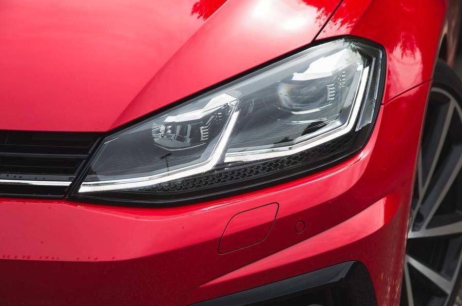 Volkswagen Golf R Estate performance pack 2018 UK review headlight