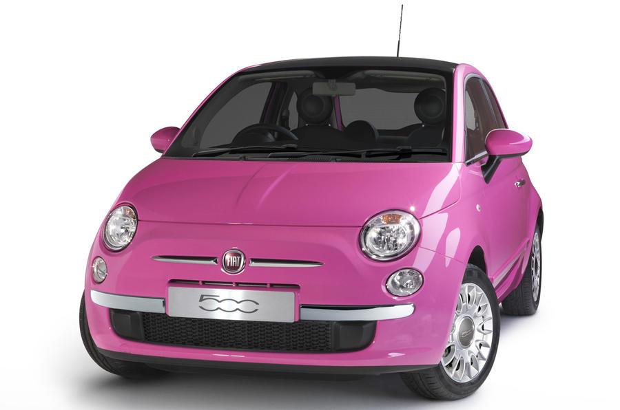 Fiat 500 Barbie pink