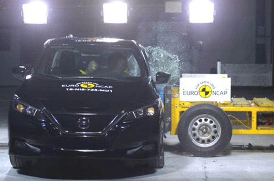 Nissan Leaf scores five stars in toughest Euro NCAP crash test