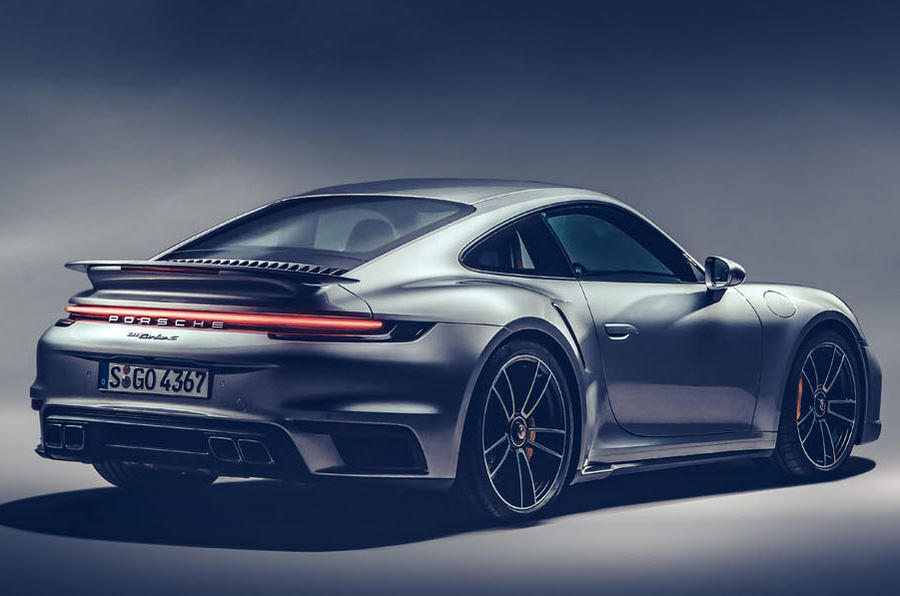 Porsche 911 Turbo S 2020 official images - rear