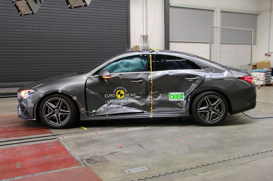 Mercedes-Benz CLA Euro NCAP crash test - side