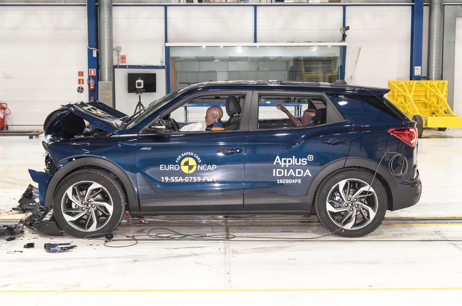 Ssangyong Korando Euro NCAP crash test - side