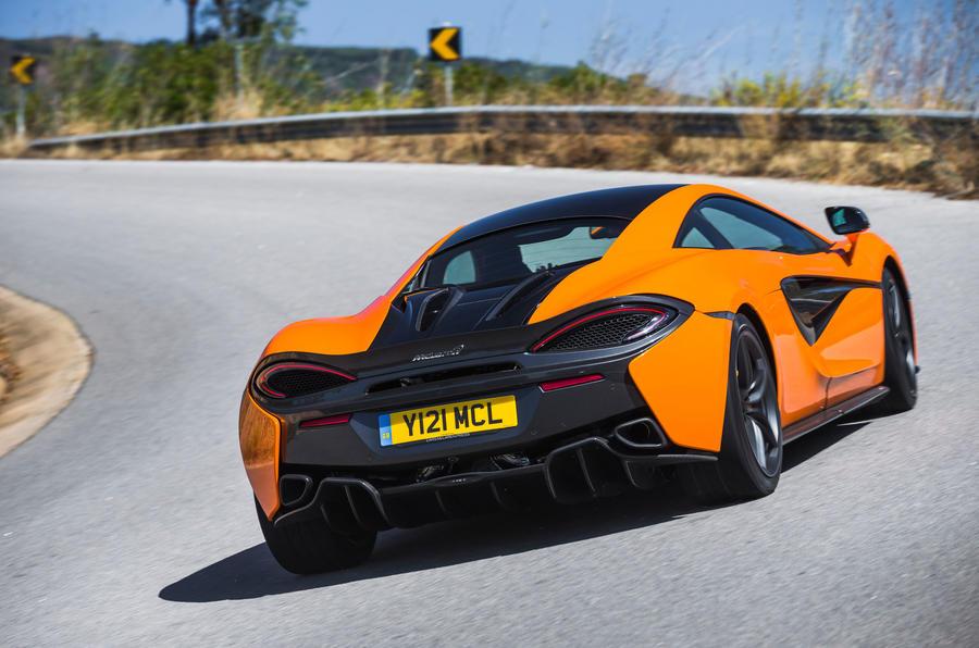 McLaren 570S rear cornering