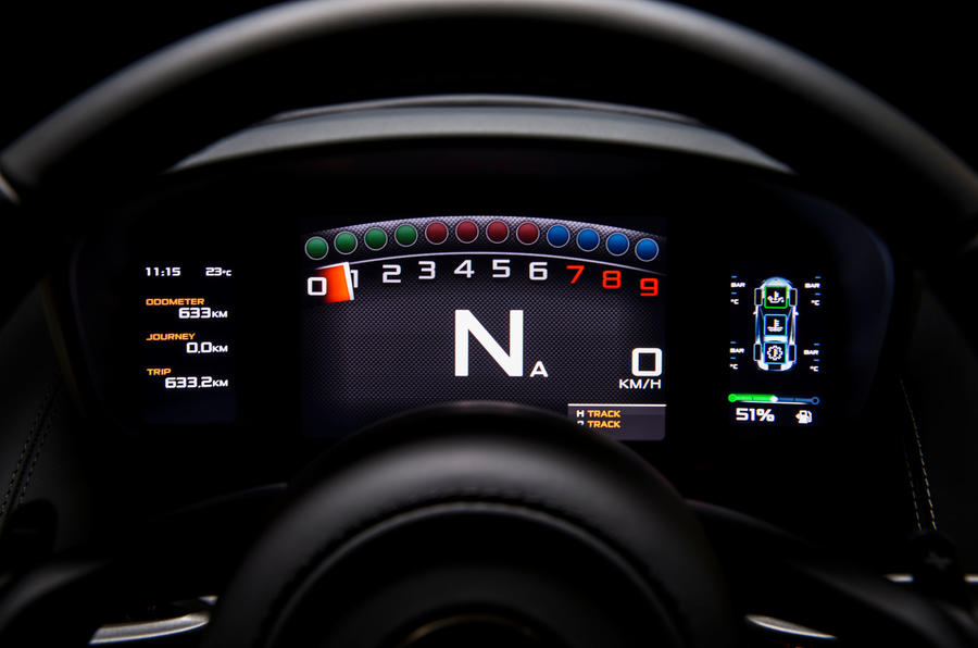 McLaren 570S information screen