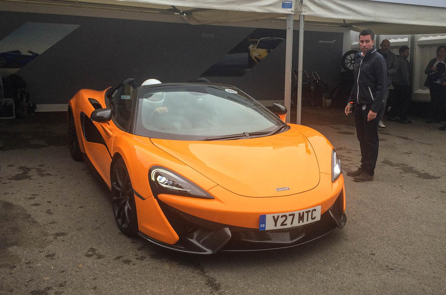 McLaren 570S on the Goodwood hillclimb - from behind the wheel