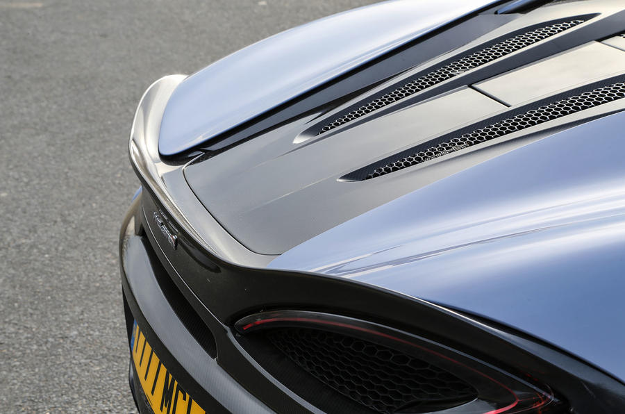 McLaren 570S Track Pack rear spoiler
