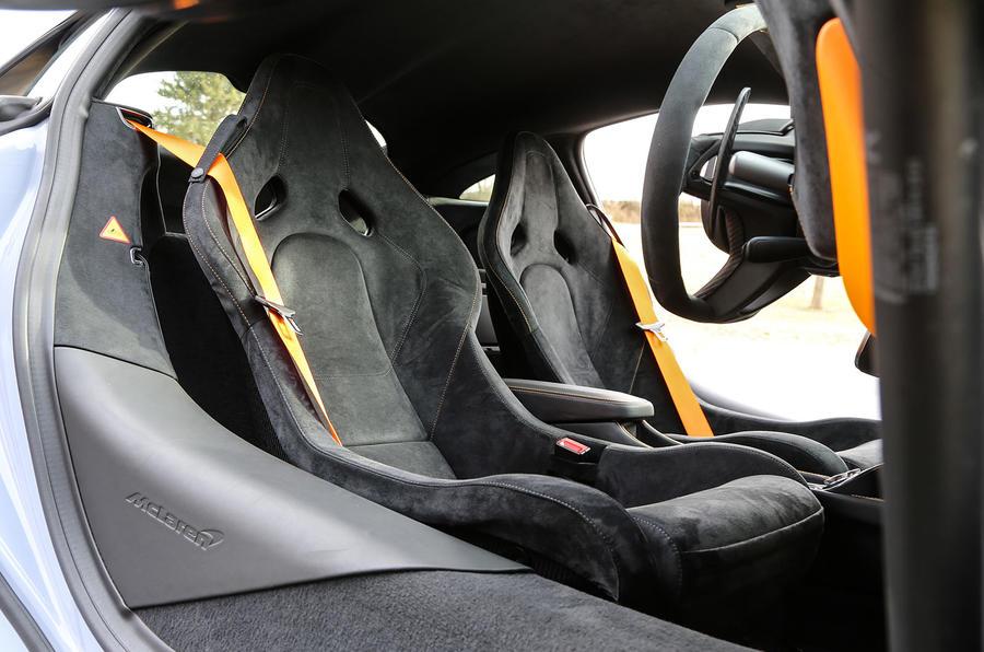 McLaren 570S Track Pack race seats