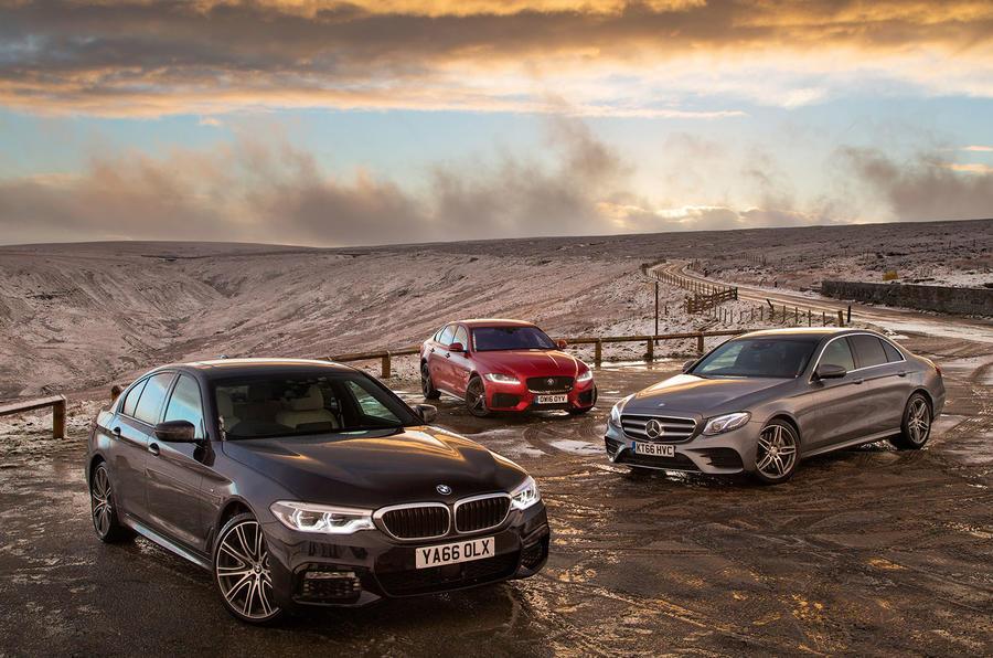 BMW 5 Series vs Mercedes-Benz E-Class vs Jaguar XF