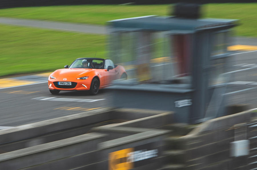Mazda MX-5 - Best affordable driver's car winner - finish line