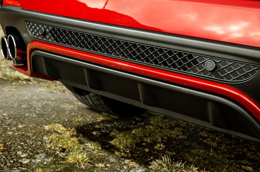 Alfa Romeo Stelvio Quadrifoglio 2018 UK RHD first drive - exhaust