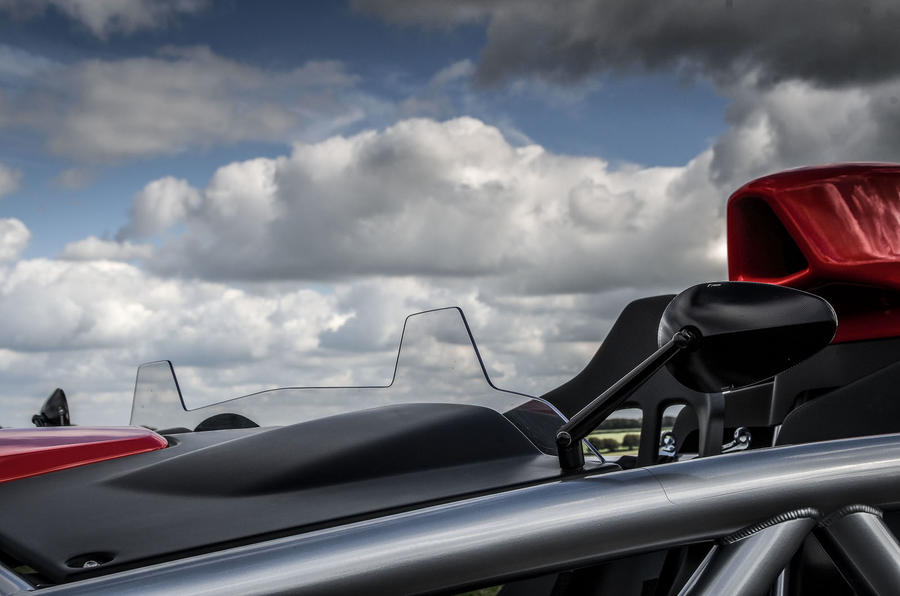 Ariel Atom 4 2018 first drive review windscreen