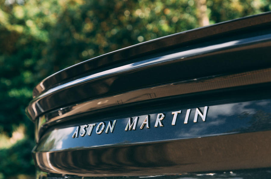 Aston Martin DBS Superleggera Volante 2019 UK first drive review - boot badge