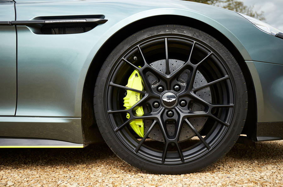 Aston Martin Rapide AMR 2019 UK first drive review - alloy wheels