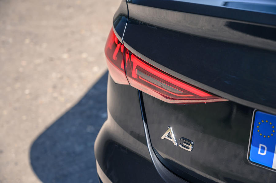 Audi A3 saloon 2020 UK first drive review - rear lights