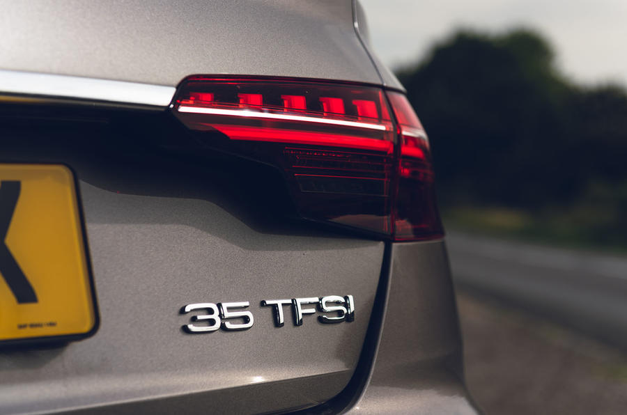 Audi A4 35 TFSI 2019 UK first drive review - rear lights