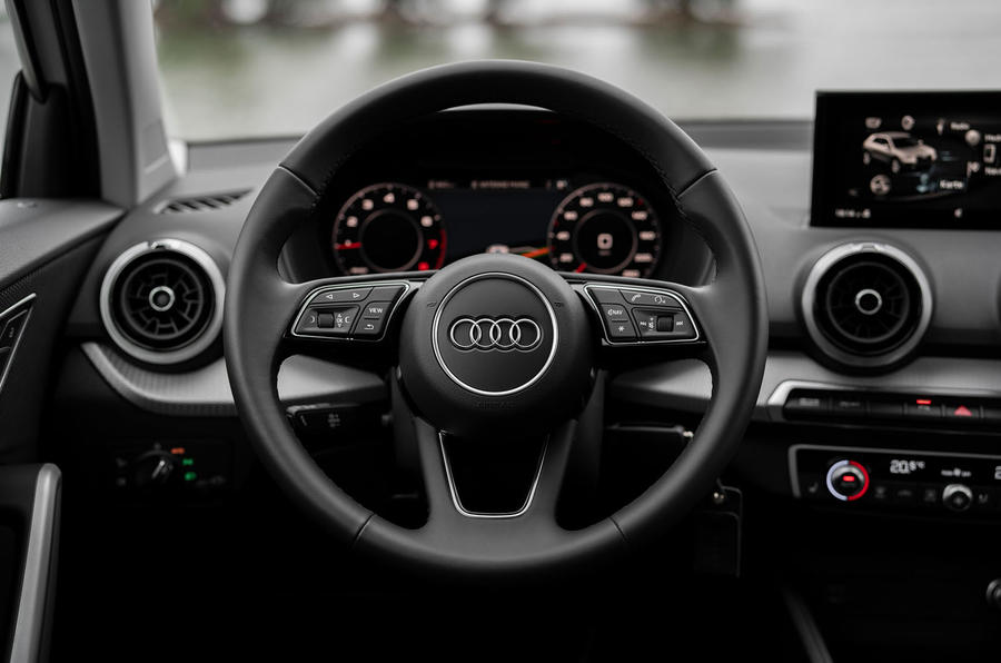 Audi Q2 2020 first drive review - steering wheel