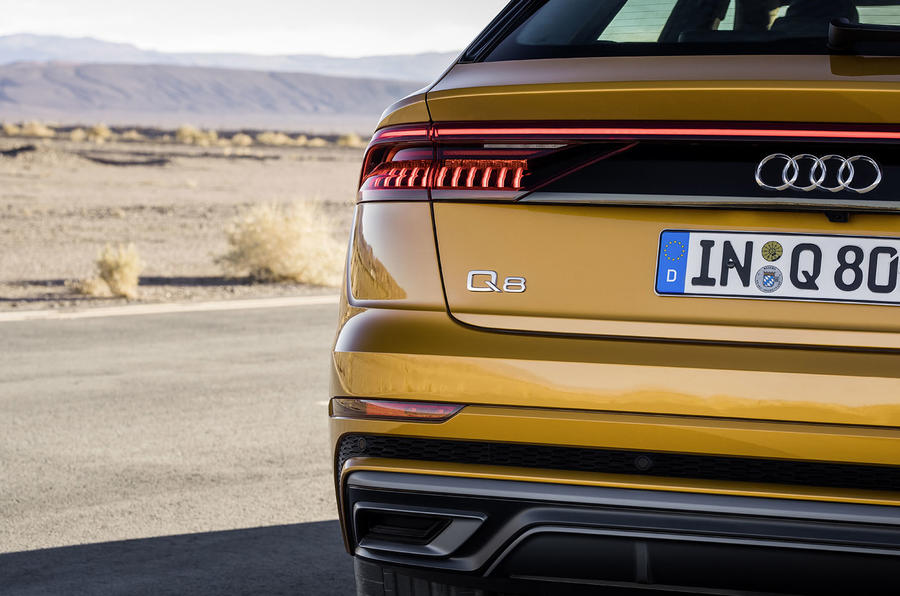Audi Q8 2018 first drive review rear end
