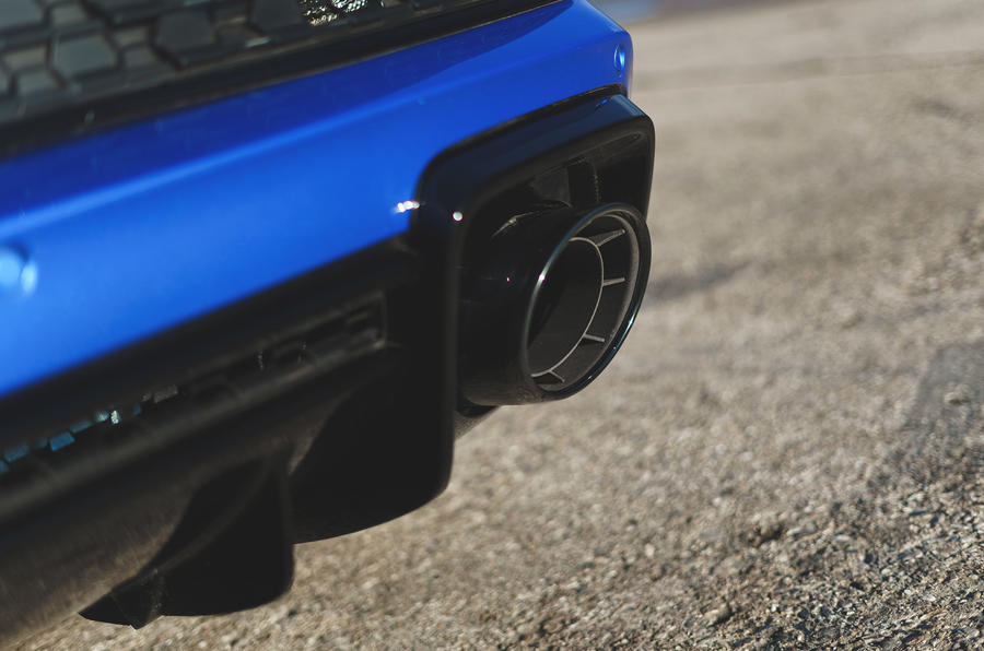 Audi R8 2019 UK first drive review - exhaust