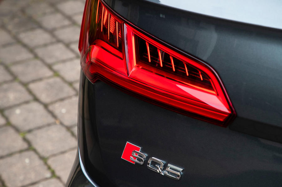 Audi SQ5 2019 first drive review - rear lights