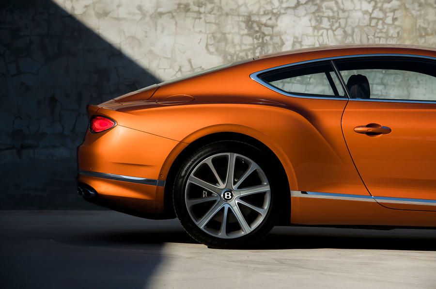 Bentley Continental GT V8 2019 first drive review - rear arch