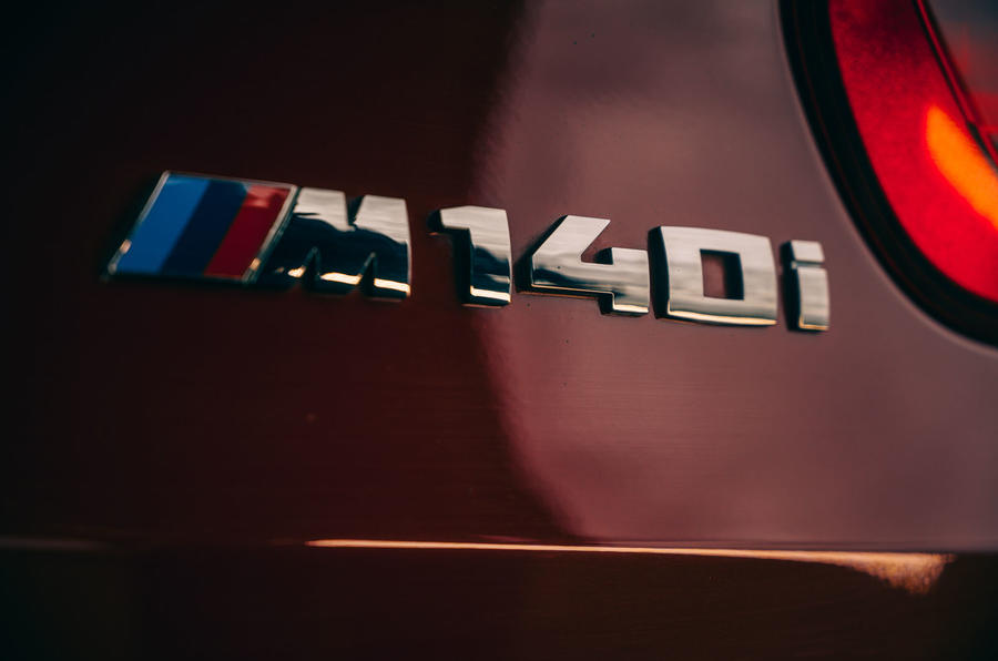 Birds BMW m140i 2020 UK first drive review - rear badge