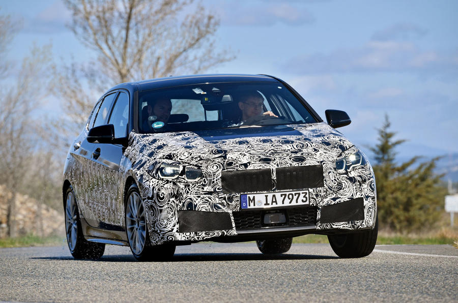 BMW 1 Series 2019 prototype drive - cornering front