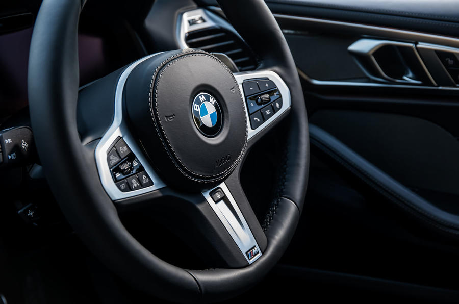 BMW 840d 2019 first drive review - steering wheel