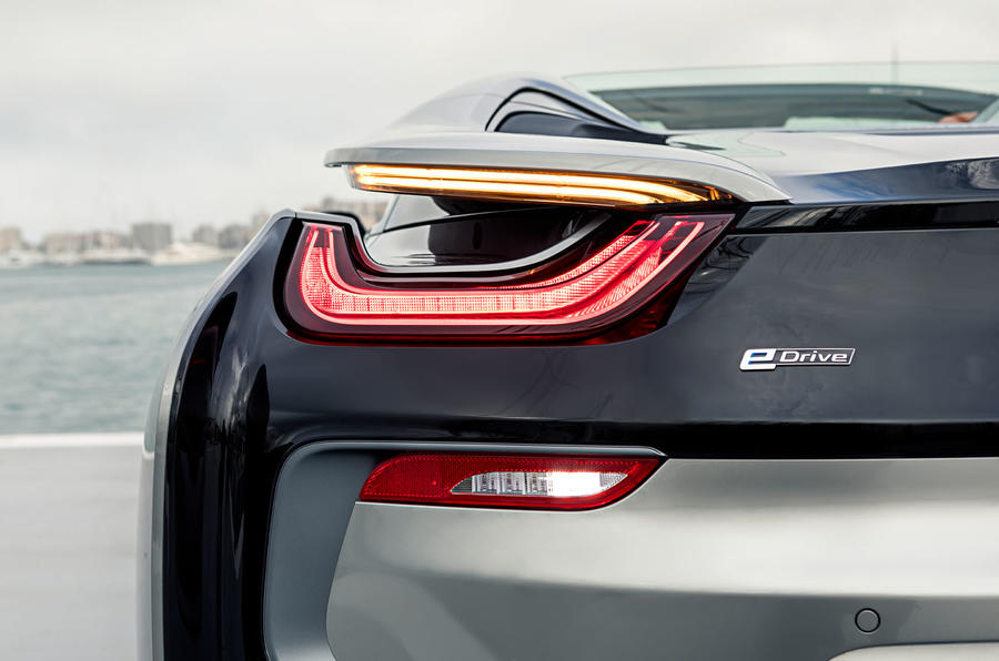 BMW i8 Roadster 2018 first drive review rear lights