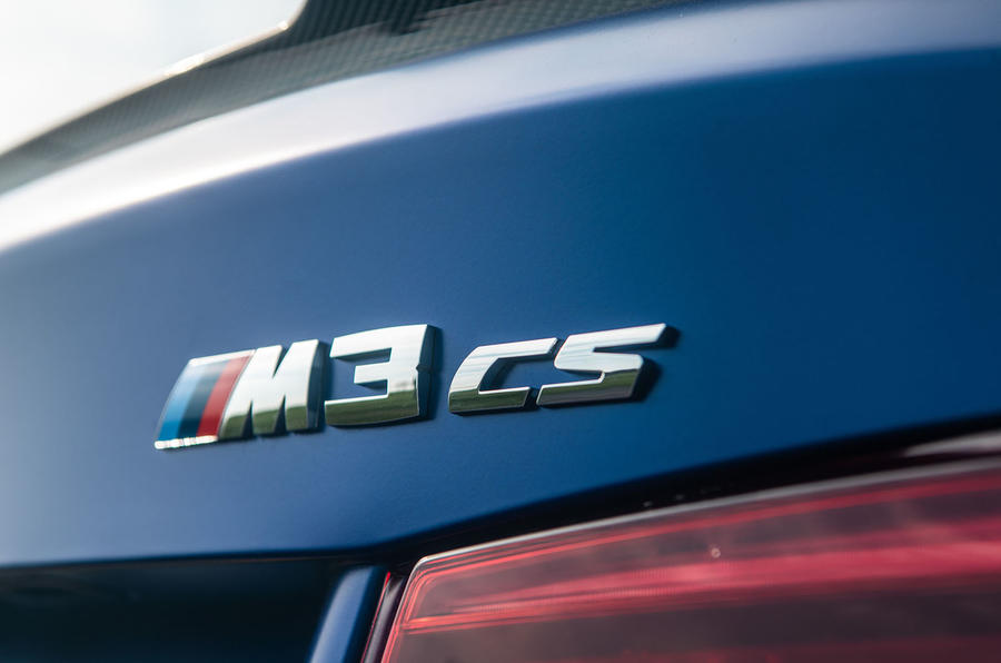 BMW M3 CS 2018 review rear badges